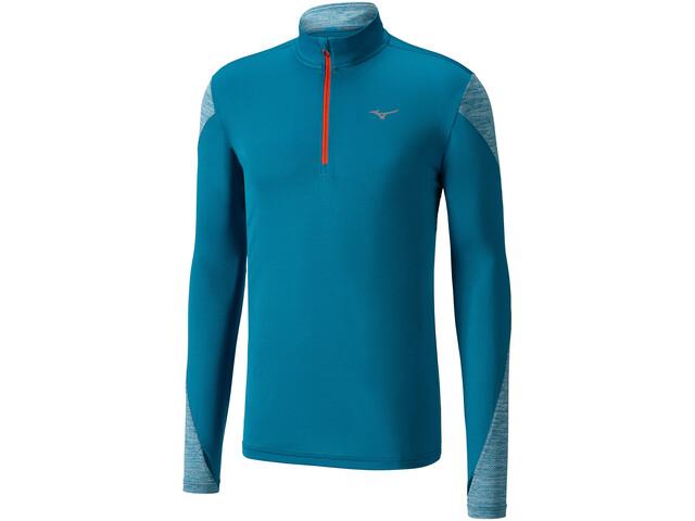 Mizuno Alpha - T-shirt manches longues running Homme - bleu